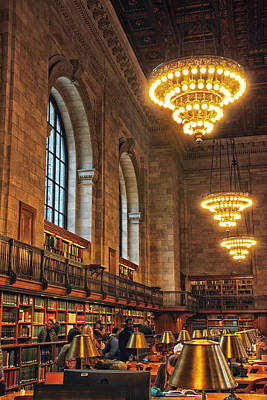 Bryant Park New York Photograph - The Reading Room by Jessica Jenney