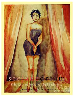 Black Women Painting - The Real Betty Boop  by Janie McGee