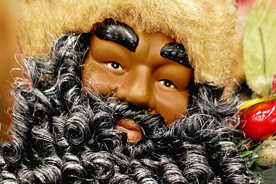 The Real Black Santa Art Print by Christine Till