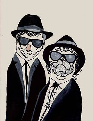 The Real Blues Brothers Art Print