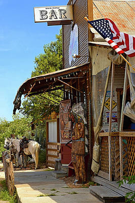 Photograph - The Real Cowboy Bar by Nadalyn Larsen