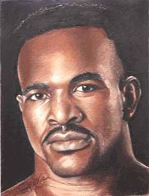 Boxer Painting - The Real Deal - Evander Holyfield by Kenneth Kelsoe