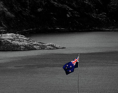 Photograph - The Real New Zealand Flag by Nareeta Martin