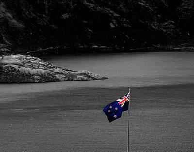 Photograph - The Real New Zealand Flag by Nareeta Martin