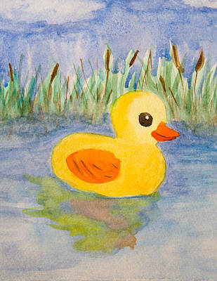 Cat Tail Painting - The Real Rubber Duck by Paul Bartoszek