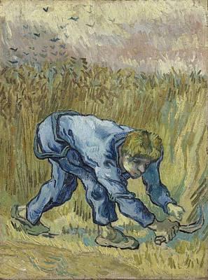 Painting - The Reaper After Millet Saint Remy De Provence, September 1889 Vincent Van Gogh 1853  1890 by Artistic Panda