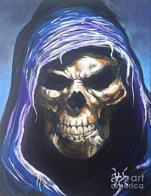 Skeletor Painting - The Reaper by Tyler Haddox