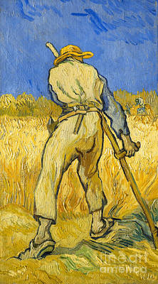 The Reaper Art Print by Vincent van Gogh