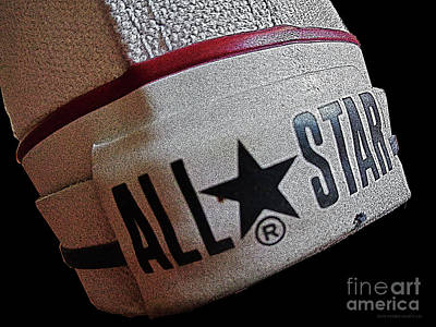 The Converse All Star Rear Label. Art Print by Don Pedro De Gracia