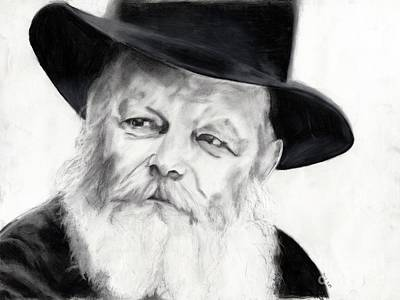 Judaica Drawing - The Rebbe by Chana Voola