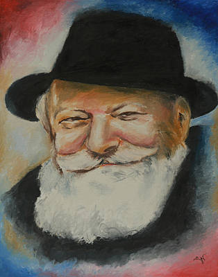 Painting - The Rebbe Smiles by Miriam Leah