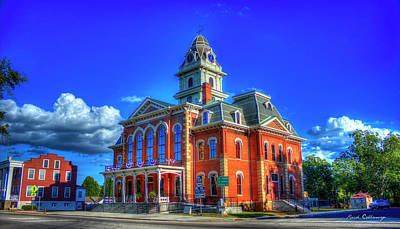 Photograph - The Rebuild Historic Hancock County Court House Sparta Georgia by Reid Callaway