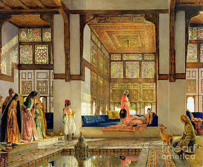 Visitors Painting - The Reception by John Frederick Lewis