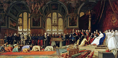 Jean-leon Gerome Painting - The Reception Of Siamese Ambassadors By Emperor Napoleon IIi At The Palace Of Fontainebleau by Jean-Leon Gerome