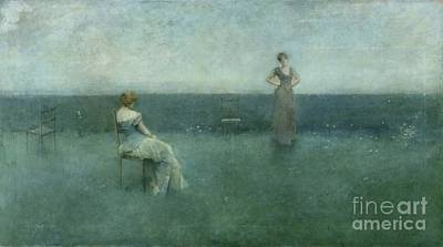 The Recitation Art Print by Thomas Wilmer Dewing