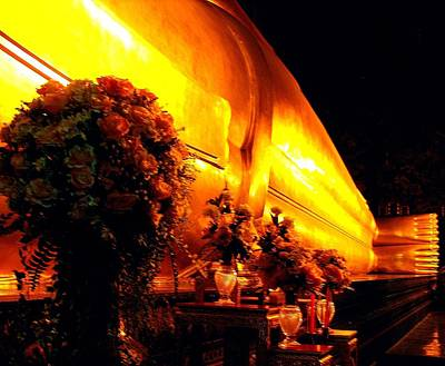 Photograph - The Reclining Buddha by Diane Height