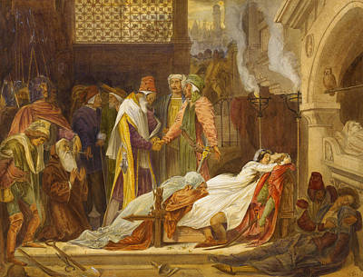 Shakespeare Painting - The Reconciliation Of The Montagues And The Capulets by Frederic Leighton