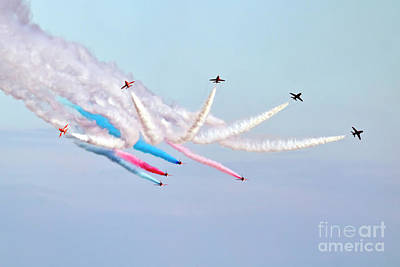 Photograph - The Red Arrows by Terri Waters