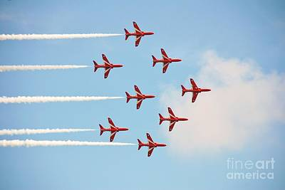 Photograph - The Red Arrows At Eastbourne by David Fowler