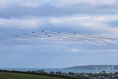Photograph - The Red Arrows Falmouth Week 2016 by Terri Waters