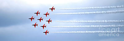 Photograph - The Red Arrows Panorama by Terri Waters