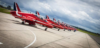 Photograph - The Red Arrows by Stewart Scott