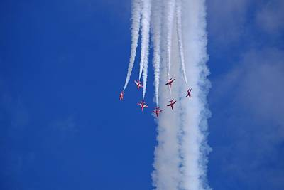 Photograph - The Red Arrows by Will Gudgeon