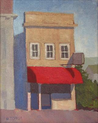 Painting - The Red Awning by Bill Tomsa