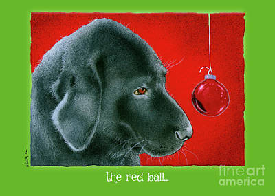 Painting - The Red Ball... by Will Bullas