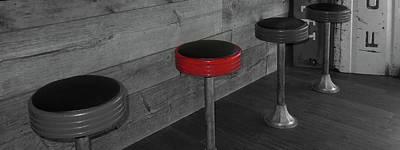 Photograph - The Red Bar Stool by Walter E Koopmann