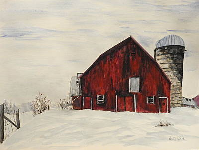 Painting - The Red Barn by Betty-Anne McDonald