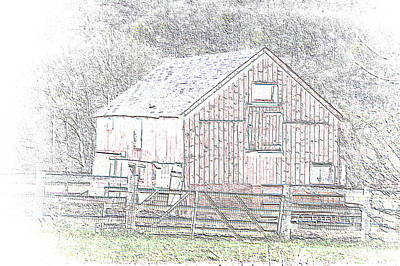 Photograph - The Red Barn by Charles HALL