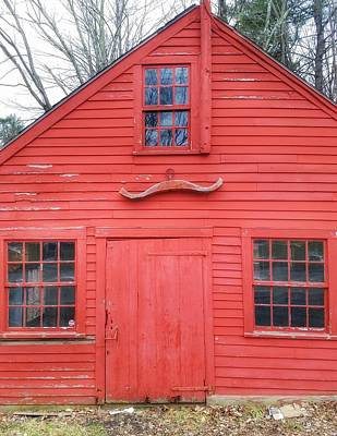 Photograph - The Red Barn Door by Mary Capriole