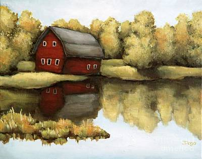 Painting - The Red Barn by Inese Poga