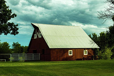 Photograph - The Red Barn by Jay Stockhaus