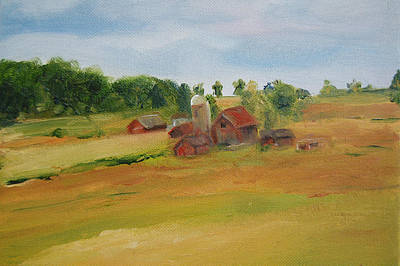 The Red Barn Art Print by Lisa Konkol