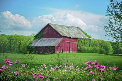 Photograph - The Red Barn by Mary Timman
