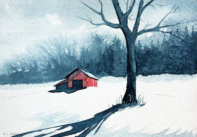 Painting - The Red Barn by Rebecca Davis