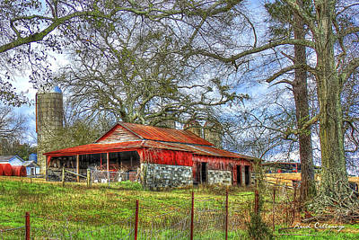 Photograph - The Red Barn by Reid Callaway