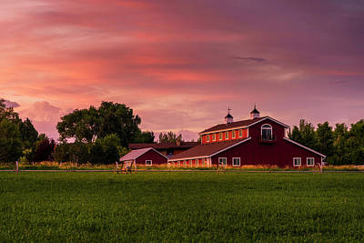 Photograph - The Red Barn by TL Mair