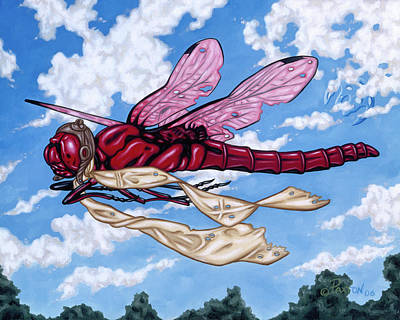 Painting - The Red Baron by Paxton Mobley