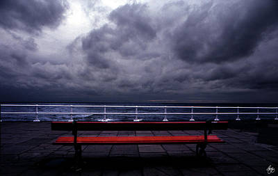 Photograph - The Red Bench by Wayne King