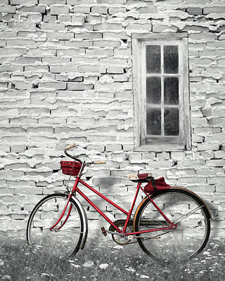 Photograph - The Red Bicycle by Lori Deiter