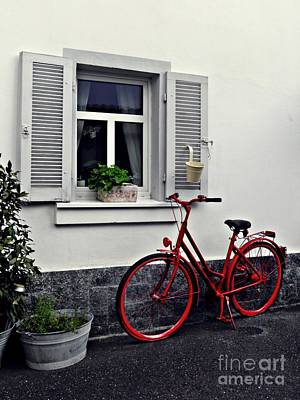 Photograph - The Red Bicycle by Sarah Loft