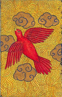The Red Bird Original by Kristian Johnson Michiels