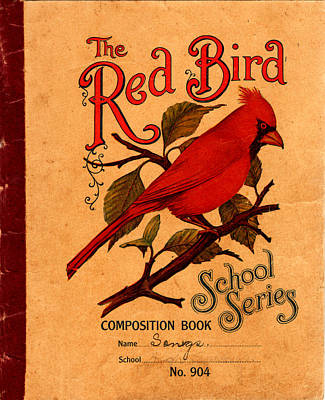 Photograph - The Red Bird School Series by rd Erickson