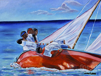 Painting - The Red Boat by Laura Forde