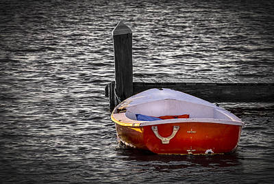 Sailboat Photograph - The Red Boat by Marvin Spates