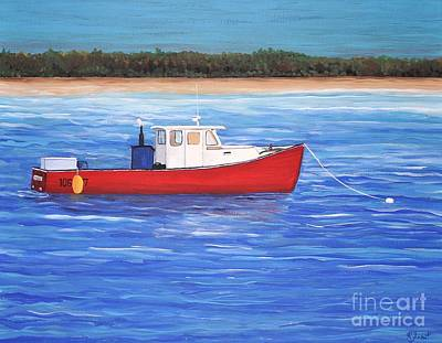 Painting - The Red Boat by Reb Frost