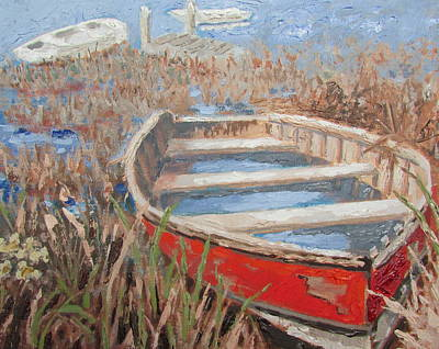 Painting - The Red Boat by Tony Caviston